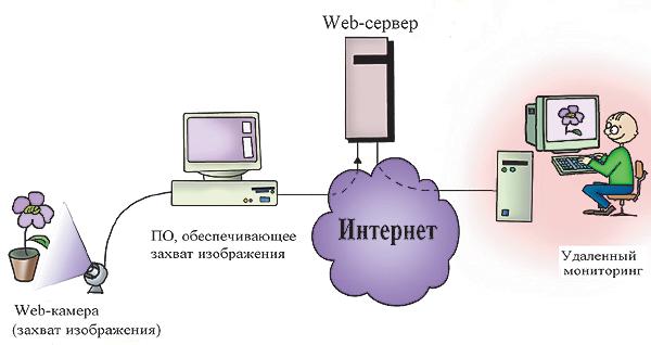Рис. 6. Схема организации процесса мониторинга с помощью Web-камеры.