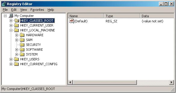 Поменять ключ windows xp в реестре.