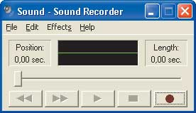 Рис. 8. Панель Sound Recorder