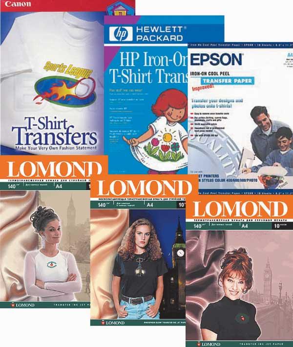 В настоящее время в продаже имеется широкий ассортимент носителей для переноса изображений на ткань