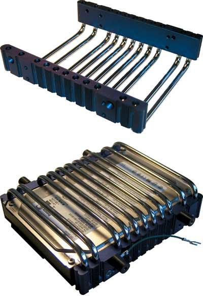 Рис. 2. Система охлаждения жестких дисков ZM-2HC1