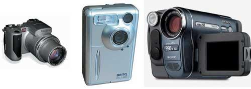 Рис. 6. Примеры цифровых аппаратов и видеокамер, которые можно использовать как Web-камеры