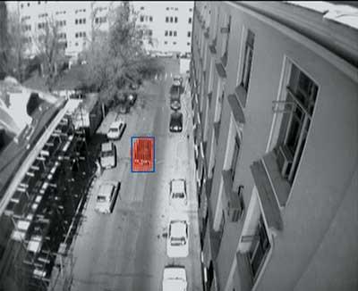 Рис. 3. Пример работы системы, детектирующей движение автомобиля