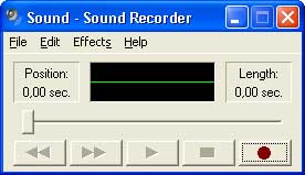 Рис. 2. Программа Sound Recorder