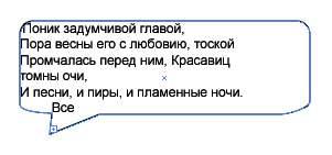 Рис. 24. Внешний вид выноски после вставки текста