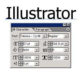 Рис. 32. Копия текста с определяющей его параметры панелью Character