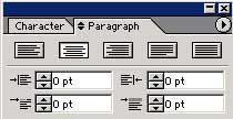 Рис. 6. Форматирование текста в панели Paragraph