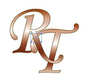 Рис. 88. Появление прямоугольника в месте пересечения букв
