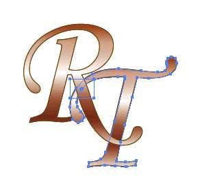 Рис. 90. Выделение прямоугольника и второй буквы