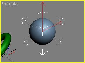 Рис. 20. Вид окна Perspective после автоматической корректировки масштаба инструментом Zoom Extents Selected для выделенного объекта