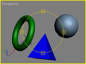 Рис. 22. Пример поворота объектов с их перемещением инструментом Arc Rotate