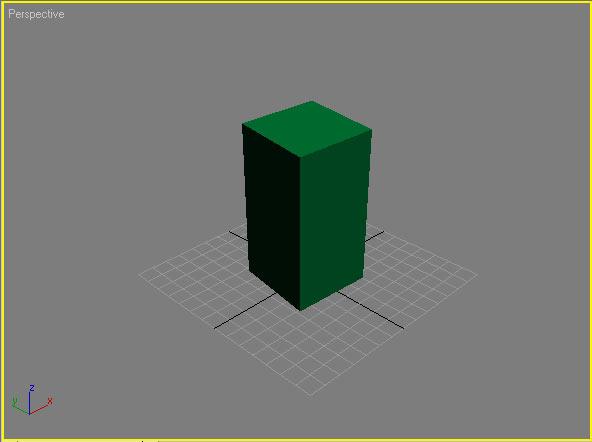 Рис. 1. Появление объекта ChamferBox — фаска пока отсутствует