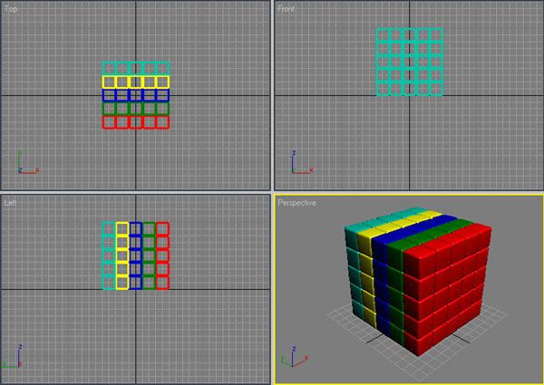 Рис. 42. Окончательный вид кубика-рубика