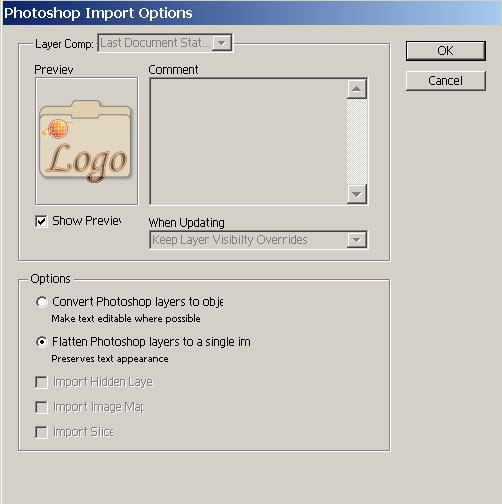 импорт изображений: