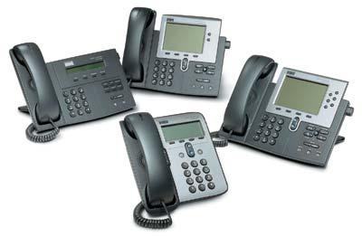 Линейка IP-телефонов компании Cisco