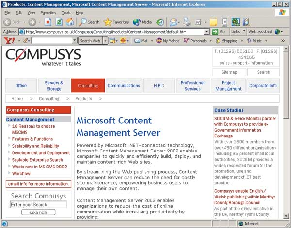 Microsoft Content Management Server