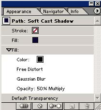 Рис. 3. Палитра Appearance для стиля Soft Cast Shadow