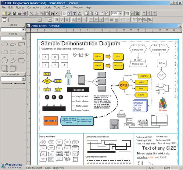 Создание схем и диаграмм в