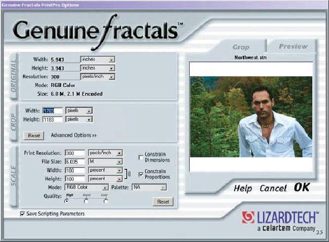 Рис. 8. Интерфейс Genuine Fractals