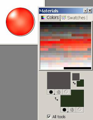 Рис. 29. Исходное изображение и созданная для него цветовая палитра
