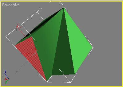 Рис. 12. Выдавливание многоугольника