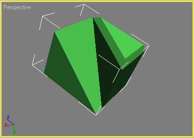 Рис. 13. Результат добавления к полигону прямой фаски