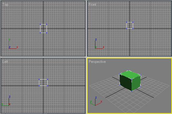 Рис. 5. Исходный объект в режиме Editable Mesh — выделены вершины