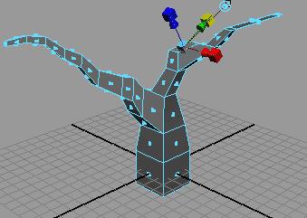 Рис. 78. Выделение полигона для создания дополнительной ветки на первой основной ветви
