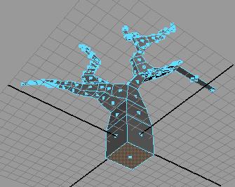 Рис. 80. Выделение полигона в основании дерева
