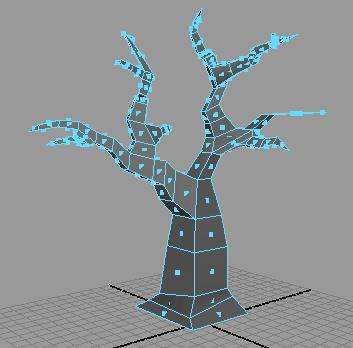 Рис. 81. Полигональное дерево без сглаживания