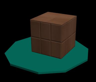 Рис. 10. Куб, облицованный кафельной плиткой