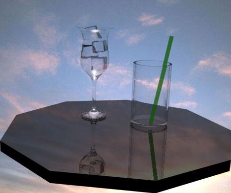 видео уроки создания стакана и стеклянного материала