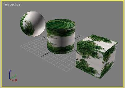 Рис. 11. Вид объектов после включения режима формирования зеркального отражения текстурной карты