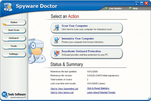 Spyware Doctor 3.5