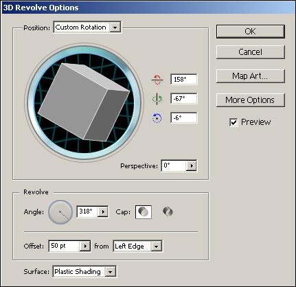 Рис. 18. Подбор размера угла и параметров положения модели на основе треугольника