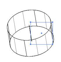 Рис. 4. Каркасное представление Revolve-модели — видно, что объект был построен вращением квадрата вокруг оси