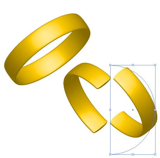 Рис. 69. Первое кольцо и две заготовки для второго кольца