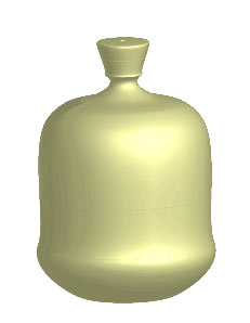 Рис. 85. Модель флакона без этикетки