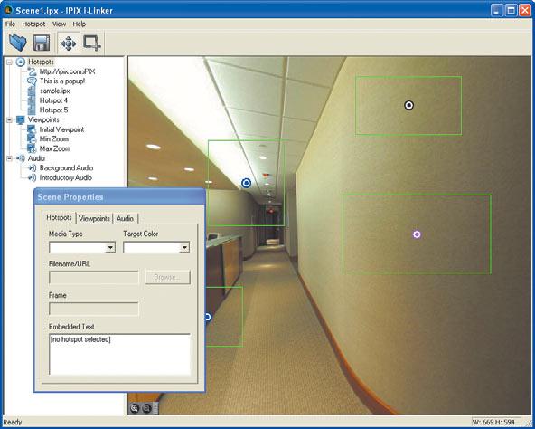 Рис. 16. Создание виртуального тура в IPIX i-Linker