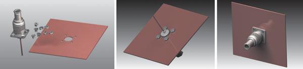 Рис. 19. Схема штыревой антенны с перпендикулярным рефлектором