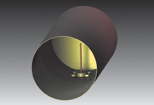 Рис. 28. Модель антенны из консервной банки