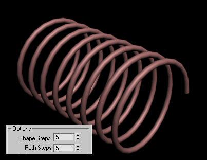 Рис. 15. Спираль с обычной плотностью каркаса