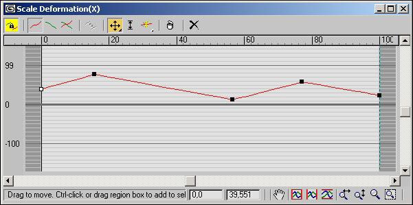 Рис. 5. Окно Scale Deformation после добавления новых управляющих точек и грубой корректировки их положения