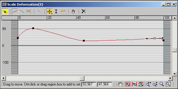 Рис. 7. Окончательный вид кривой деформации