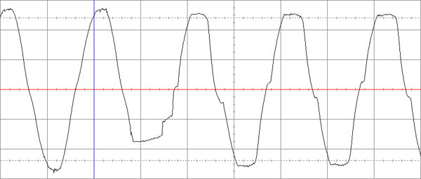 Переключение на питание от аккумуляторной батареи MGE Nova 1100AVR.