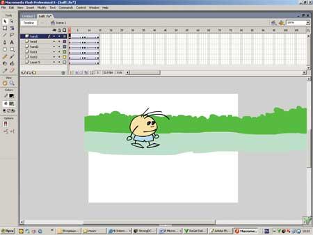 Создание первой анимации в macromedia flash 8 с нуля - zebroidtv