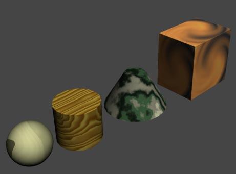 Рис. 13. Объекты после изменения значений параметра Tiling