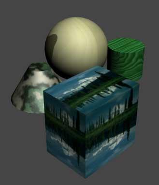 Рис. 33. Вид сцены после изменения параметров свечения материала