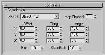 Рис. 37. Настройка параметров в свитке Coordinates