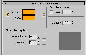 Рис. 48. Параметры настройки свитка Metal Basic Parameters
